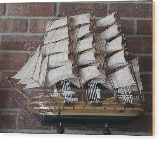 Sailing Ship Wood Print