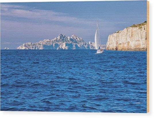 Sailing South Of France Wood Print