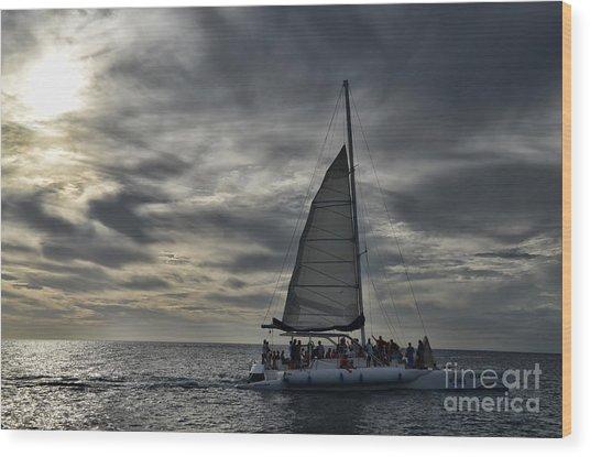 Sailing The Caribbean Wood Print