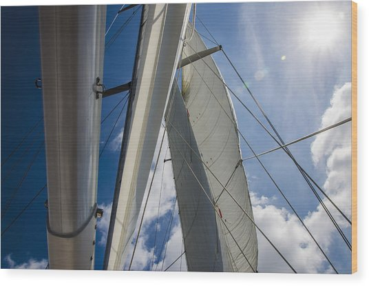 Sailing's Perfect Breeze  Wood Print