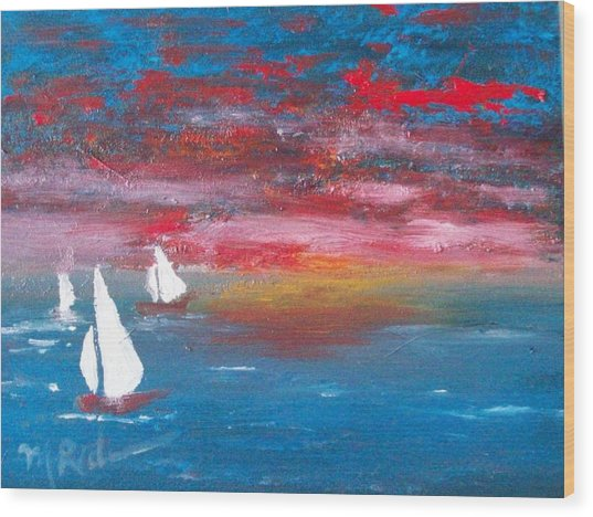 Sailor's Delight Wood Print by Margie Ridenour