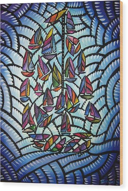 Sails 2008 Wood Print