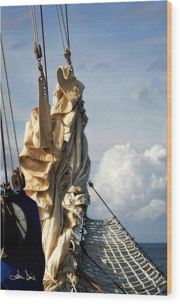 Sails Wood Print