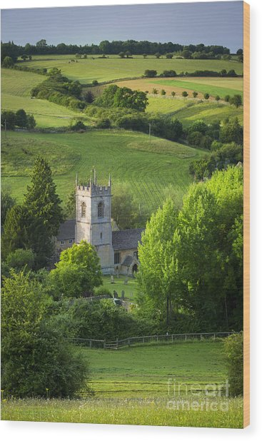 Wood Print featuring the photograph Saint Andrews - Cotswolds by Brian Jannsen