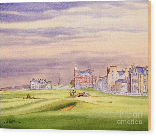 Saint Andrews Golf Course Scotland - 17th Green Wood Print