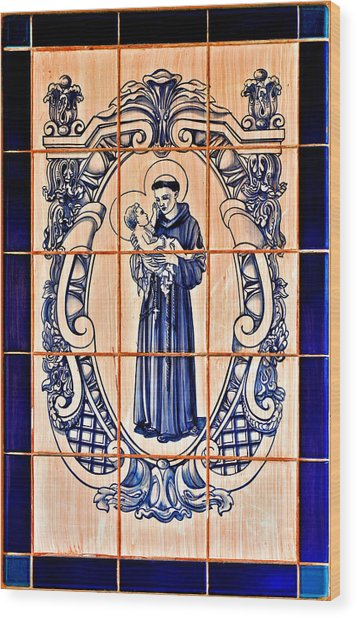 Saint Anthony Of Padua Wood Print