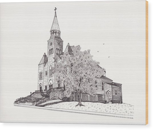 Saint Bridget Church Wood Print