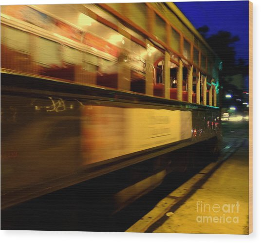New Orleans Saint Charles Avenue Street Car In  Louisiana #7 Wood Print