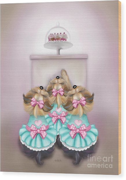Saint Cupcakes Wood Print