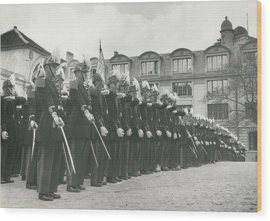 Saint Cyr Cadets At Ecole Polmtechnique Wood Print by Retro Images Archive