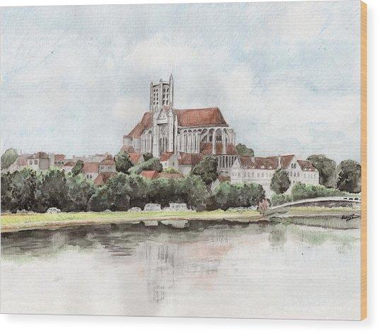 Saint-etienne A Auxerre Wood Print