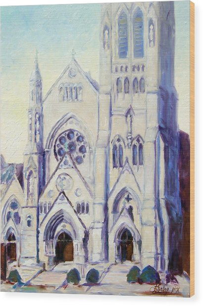 Saint Francis Xaviere College Church - St.louis Wood Print