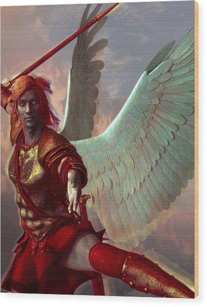 Saint Gabriel The Archangel Wood Print