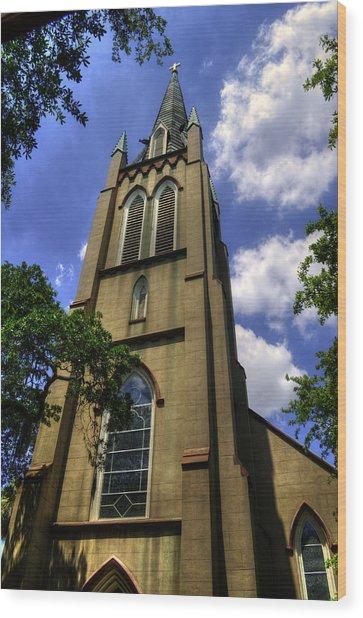 Saint Johns Episcopal Church Savannah Georgia Wood Print