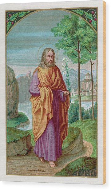 Saint Joseph Husband Of Mary, And Wood Print by Mary Evans Picture Library