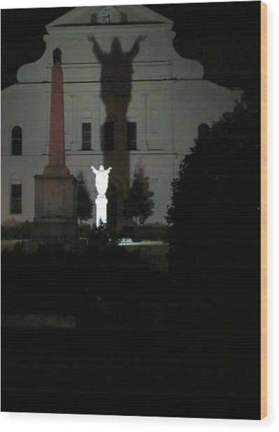 Saint Louis Cathedral Courtyard - New Orleans La Wood Print