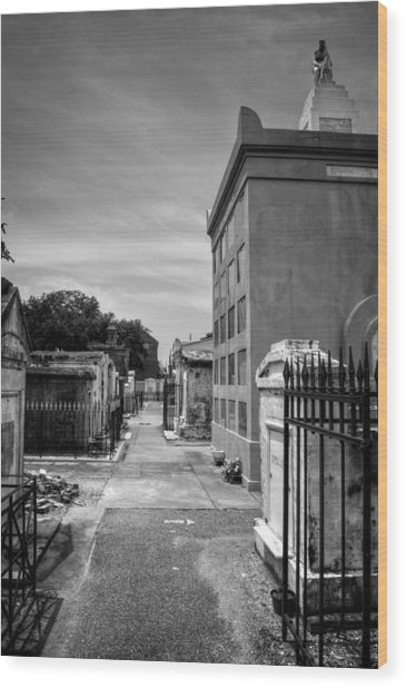 Saint Louis Cemetery Number 1 In Black And White Wood Print