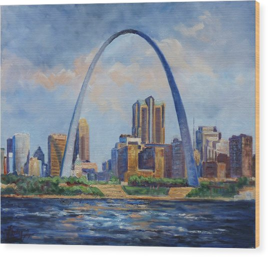 Saint Louis Skyline 2 Wood Print