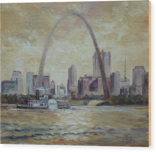 Saint Louis Skyline Wood Print