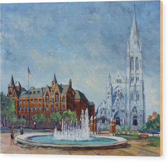 Saint Louis University And College Church Wood Print