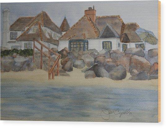 Saint Malo Beach House Wood Print
