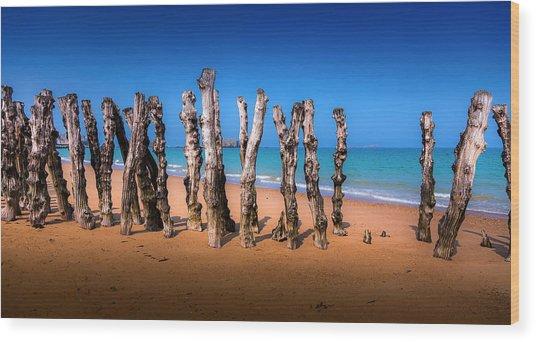 Saint Malo Beach Wood Print by Martin Velebil