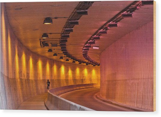 Saint-marc Tunnel Scene 1 Wood Print by Eric Soucy