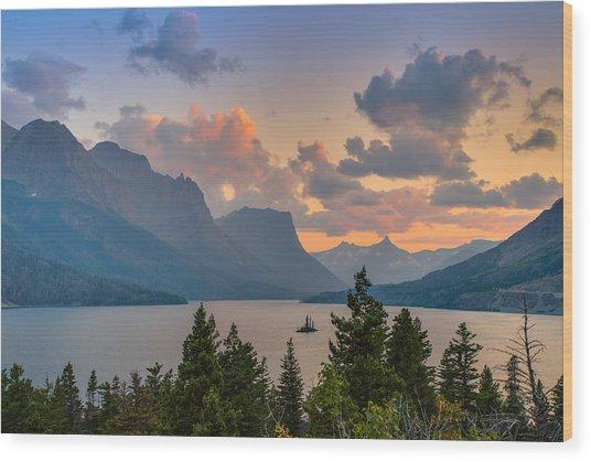 Saint Mary Lake Wood Print