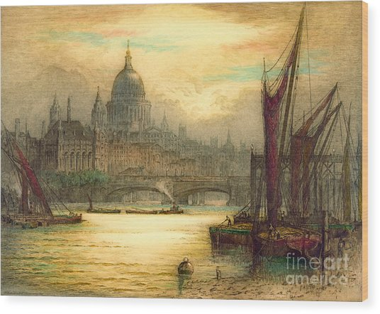 Saint Paul's Cathedral 1902 Wood Print by Padre Art
