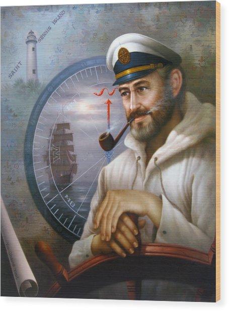 Saint Simons Island Sea Captain 1 Wood Print