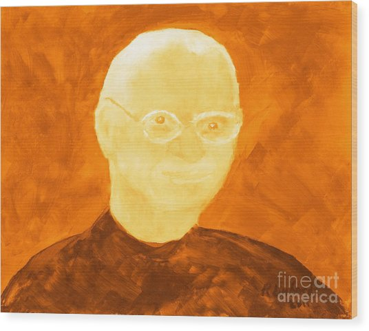 Saint Steven Paul Jobs 3 Wood Print by Ricardo Richard W Linford