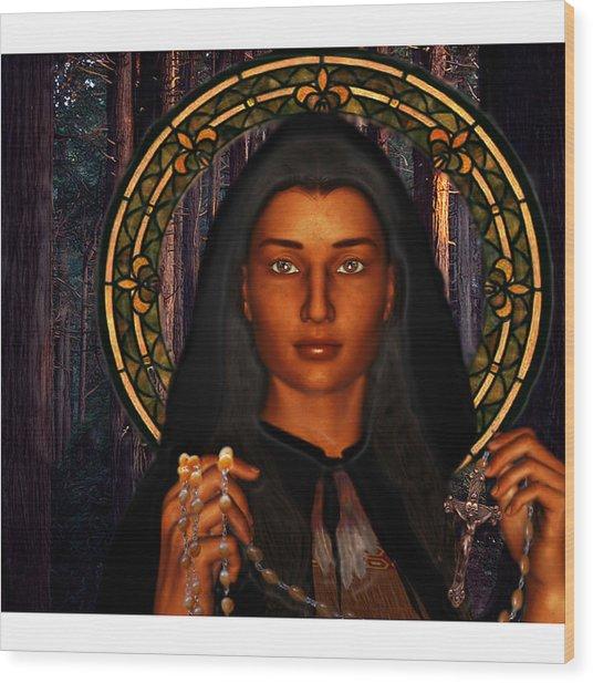 Saint Tekakwitha The Lily Of The Mohawks Wood Print