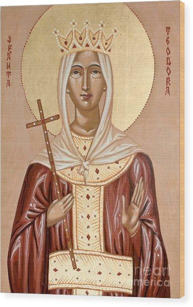 Saint Theodora Of Arta Wood Print
