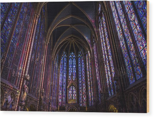 Sainte Chapelle Wood Print