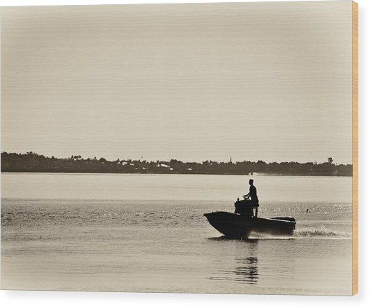 Saintlucieboating Wood Print by Patrick M Lynch