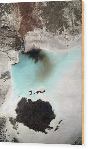 Salar De Coipasa, Bolivia, Iss Image. Wood Print by Science Photo Library