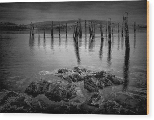 Salen Pier 2 Wood Print