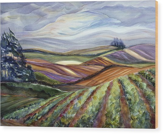Salinas Tapestry Wood Print