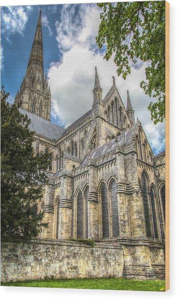 Salisbury In The Morning Wood Print