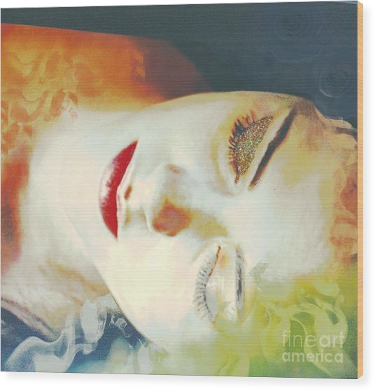 Sally Sleeps Wood Print