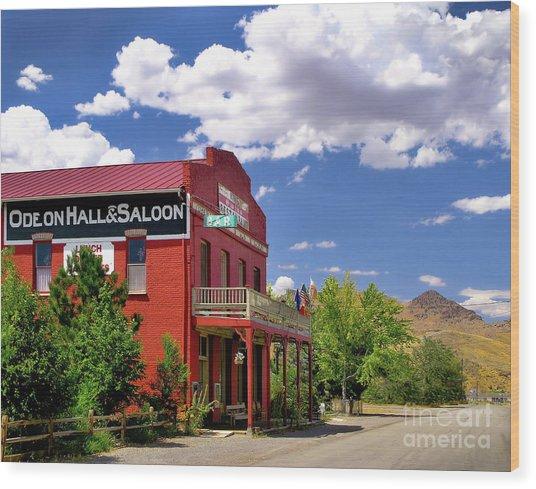 Saloon - Dayton - Nevada Wood Print