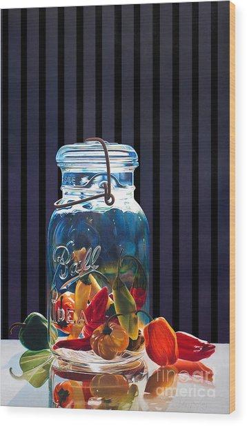 Salsa Wood Print by Arlene Steinberg