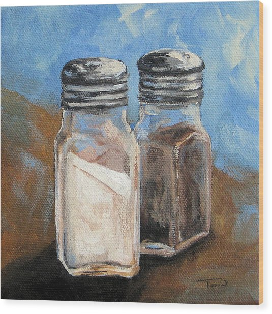 Salt And Pepper Iv Wood Print by Torrie Smiley
