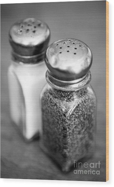 Salt And Pepper Shaker Wood Print