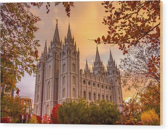 Salt Lake City Temple Wood Print