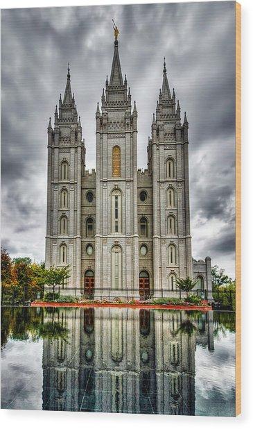 Salt Lake City Temple Wood Print