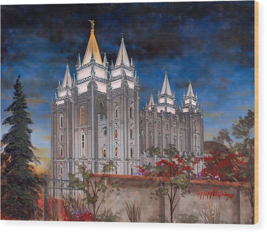 Salt Lake Temple Wood Print