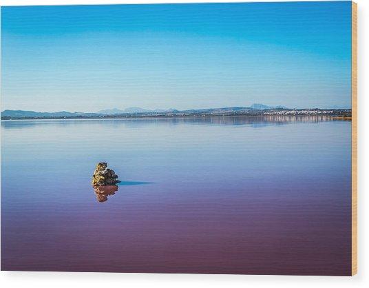 Salt Lake Torrevieja. Wood Print