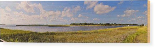 Salt Marsh Morning - Southport Wood Print