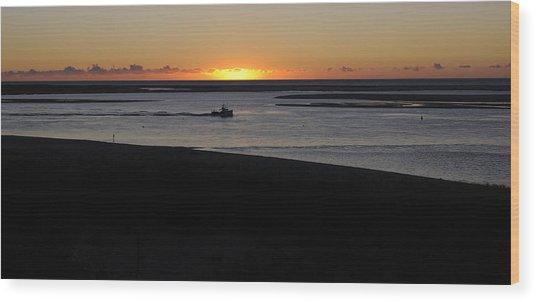 Salty Sunrise Wood Print